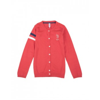U.S. Polo Assn. Casual Wear Solid Girls Sweater