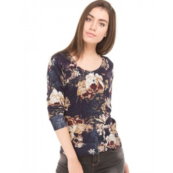 U.S. Polo Assn. Casual Wear Floral Print  Women Sweater