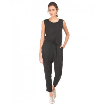 U.S. Polo Assn. Casual Wear Solid Women Jump Suit