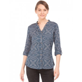 U.S. Polo Assn. Casual Wear Printed  Women Shirt