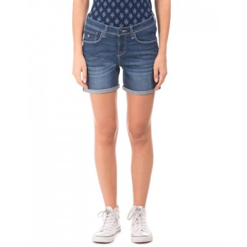 U.S. Polo Association Casual Wear Solid Women Short