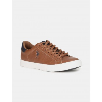 U.S. Polo Assn. Footwear Men Brown Lace Up Sneakers