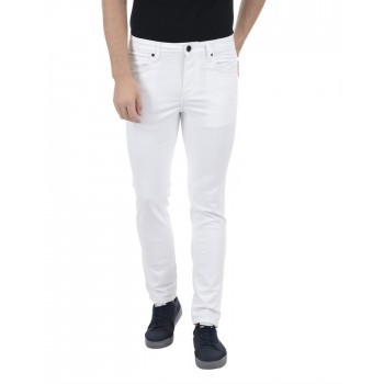 United Colors of Benetton Men Casual Wear Solid White Jeans