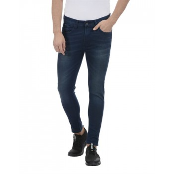 United Colors of Benetton Men Casual Wear Solid Blue Jeans