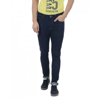 United Colors of Benetton Men Casual Wear Solid Navy Blue Jeans