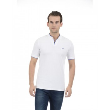 United Colors of Benetton Men Casual Wear Solid White T-Shirt