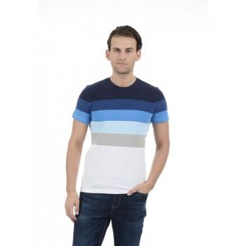 United Colors of Benetton Men Casual Wear Color Block Multicolor T-Shirt