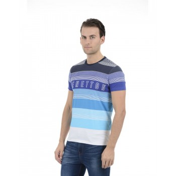 United Colors of Benetton Men Casual Wear Striped Multicolor T-Shirt