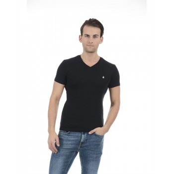 United Colors of Benetton Men Casual Wear Solid Black T-Shirt