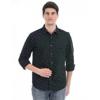 United Colors of Benetton Men Casual Wear Black Shirt