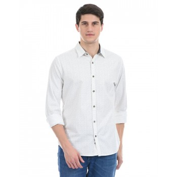 United Colors of Benetton Men Casual Wear White Shirt
