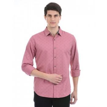 United Colors of Benetton Men Casual Wear Pink Shirt