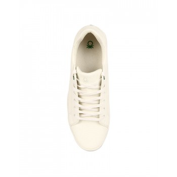 United Colors of Benetton Men Off-White Sneakers