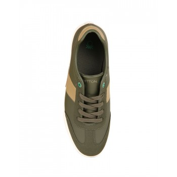 United Colors of Benetton Men Olive Sneakers