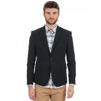 Benetton Men Casual Wear Texture Blazer