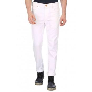Benetton Men Casual Wear Solid Trousers