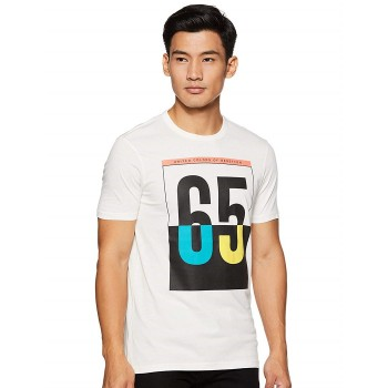 United Colors of Benetton Men Casual Wear Graphic Print T-Shirt