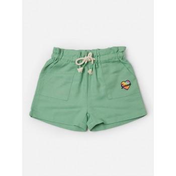 VITAMINS GIRLS Green Printed Casual Shorts