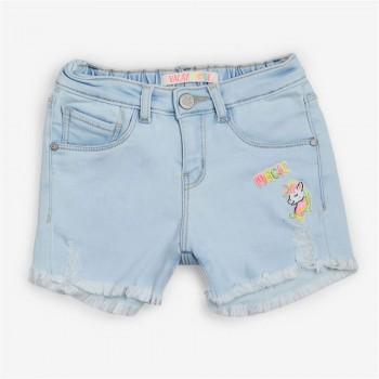 Vitamins Blue Applique Shorts For Girls