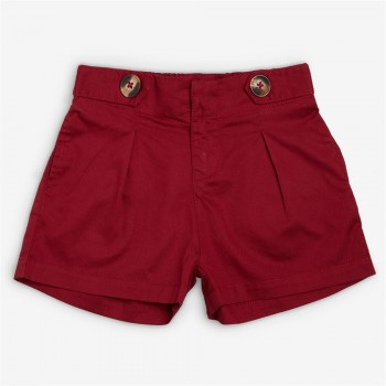 Vitamins Red Solid Shorts For Girls