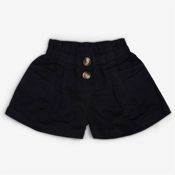 Vitamins Black Solid Shorts For Girls