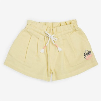 Vitamins Yellow Solid Shorts For Girls