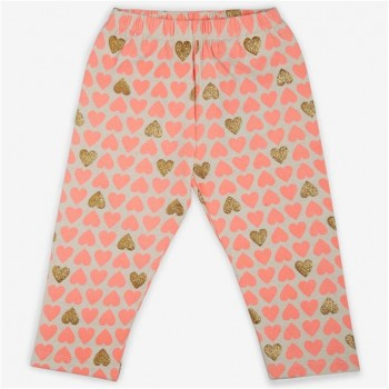 Vitamins Orange Printed Legging For Girls