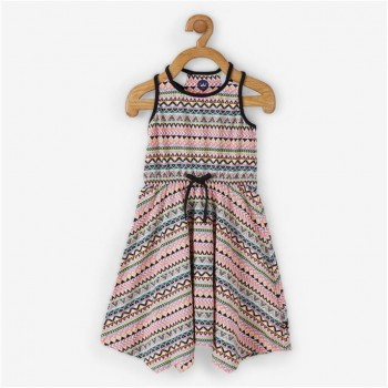 Vitamins Multicolor Printed Frock For Girls
