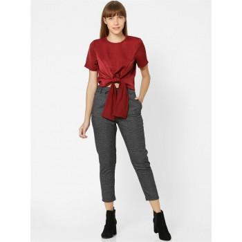 Only Women Casual Wear Dark Grey Trouser