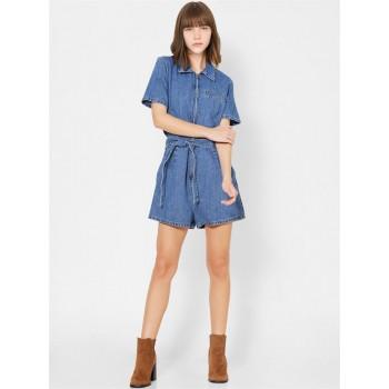 Only Women Casual Wear Blue Playsuit