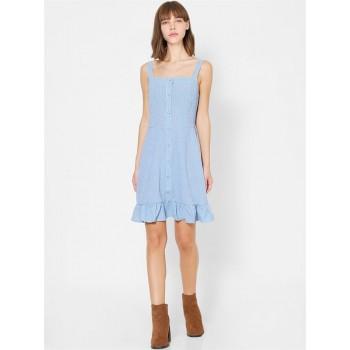 Only Women Casual Wear Blue Shift Dress