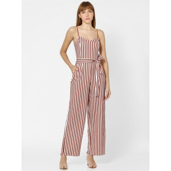 Only Women Casual Wear Red Jumpsuit