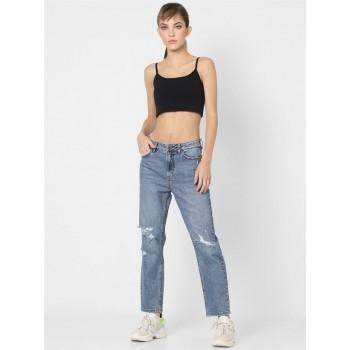 Only Women Casual Wear Blue Straight Jeans