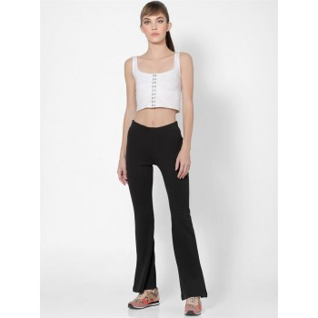 Only Women Casual Wear Black Flared Trouser