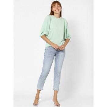Only Women Casual Wear Green Top