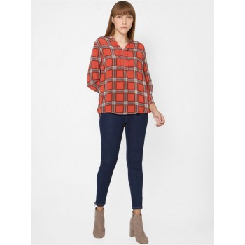 Only Women Casual Wear Red Top