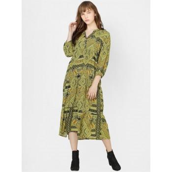 Only Women Casual Wear Green Shift Dress