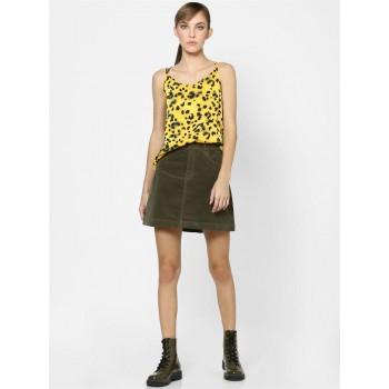 Only Women Casual Wear Yellow Singlet Top