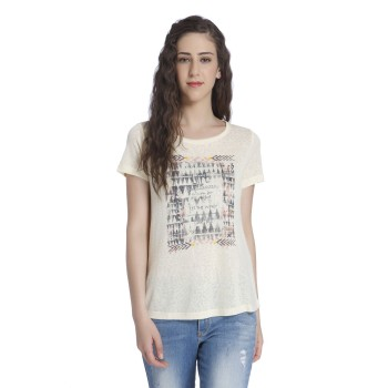 Only Casual Wear Printed Women T-shirt