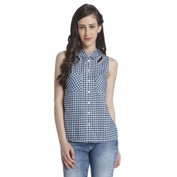 Only Women Casual Wear Checkered Shirt