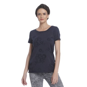 Only Casual Wear Self design Women T-shirt