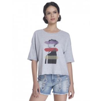 Only Women Casual Wear Chest Print T-Shirt