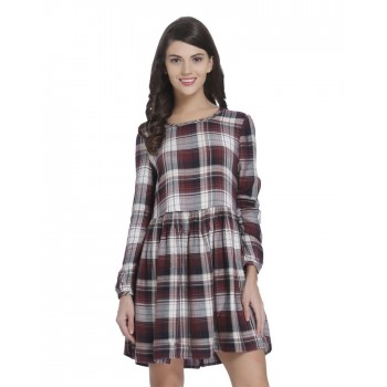 Only Casual Wear Checkered Women Dress