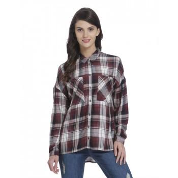 Only Casual Wear Checkered Women Shirt