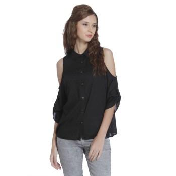 Only Casual Wear Self Design Women Shirt