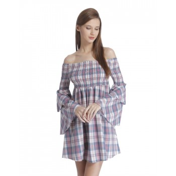 Only Casual Wear Checkered Women Dress
