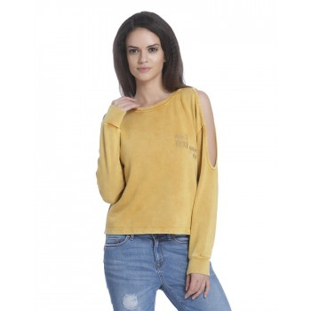 Only Women Casual Wear Solid Sweatshirt