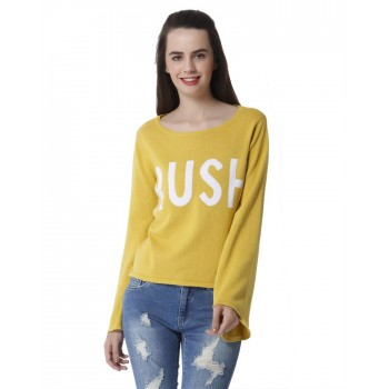 Only Women Casual Wear Chest Print Pullover