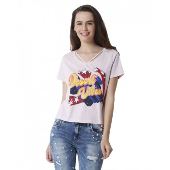 Only Women Casual Wear Printed T-Shirt