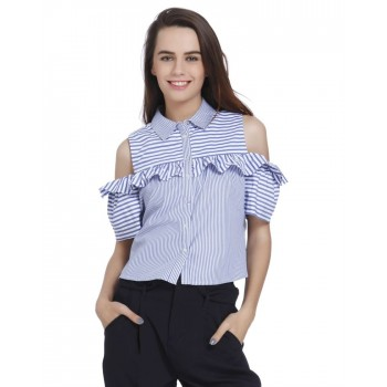 Only Casual Wear Striped Women Shirt
